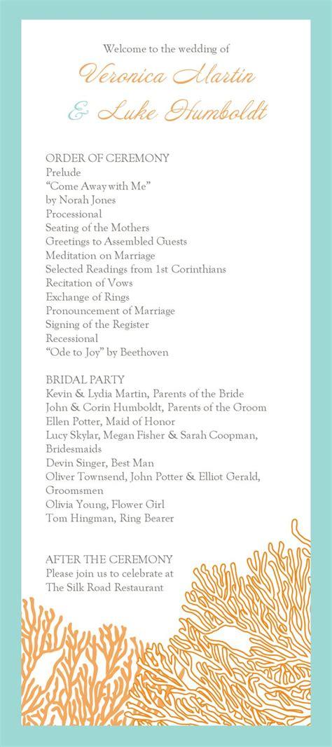wedding ceremony program template sample wording marvelous studiootb