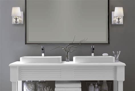 bathroom sconces modern the correct height for bathroom wall sconces home design