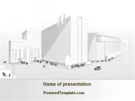 Urban Architecture Project Powerpoint Template By Poweredtemplate Com Youtube Architecture Powerpoint Templates