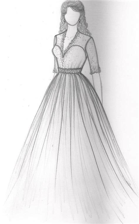 doodle dresses india gowndesign gownsketch gowndrawing weddinggowndesign