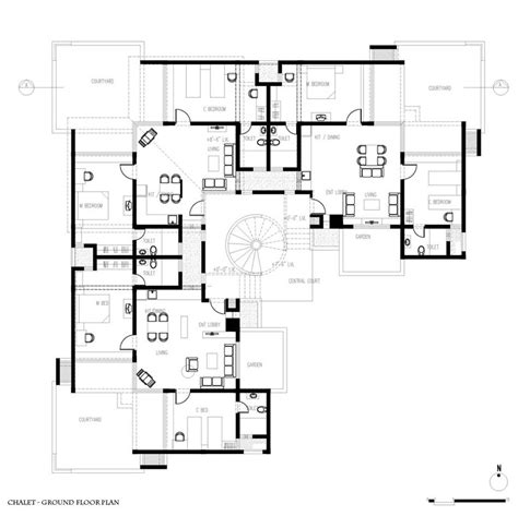 Spanish Colonial Architecture Floor Plans Small Guest House Interiors Guest House Designs And Plans