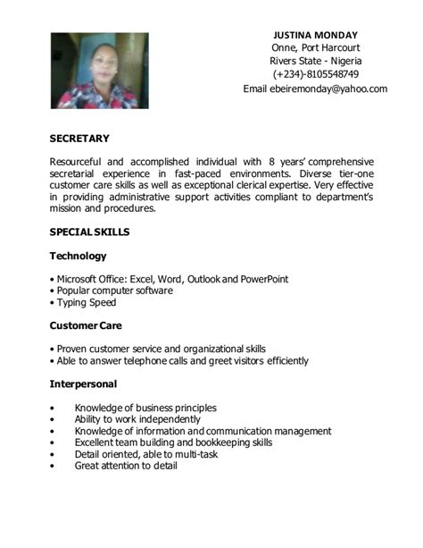 Sample Resume Administrative Support by Secretary Resume