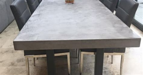 Polished Concrete Dining Table Polished Chunky Concrete Dining Table With Industrial By Breuhaus Vloeren Pinterest