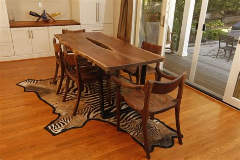 chairs for live edge table made live edge walnut carbon fiber dining table by