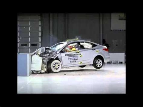 Hyundai Accent Crash Crash Test 2012 Hyundai Accent Verna I25 Frontal