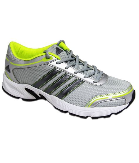 adidas silver synthetic leather sport shoes price in india