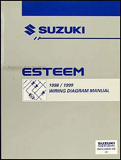 1996 suzuki esteem wiring diagram manual original 1998 1999 suzuki esteem wiring diagram manual original