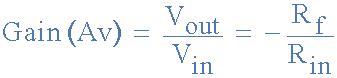 gain resistor formula inverting operational lifier the inverting op