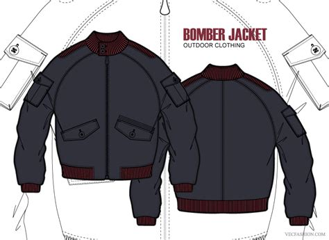desain vektor jaket men bomber jacket clothing template illustrations on