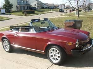 1975 Fiat 124 Spider 1975 Fiat 124 Spider Convertible 2 Door 1 8l
