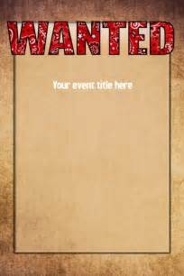 wanted invitation template wanted western west poster event flyer invitation