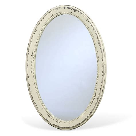 Vintage Oval White nordal vintage inspired oval mirror by bell blue notonthehighstreet