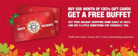 Cici S Gift Card - tis the season for holiday bonus gift card offers mission to save
