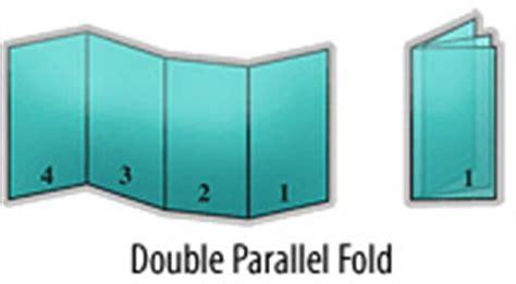 parallel fold brochure template brochure design