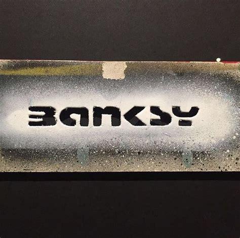 banksy original signature stencil banksy sketch