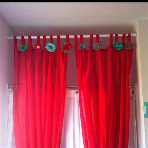 curtain embellishments red turqiouse diy bathroom decor ikea curtains with