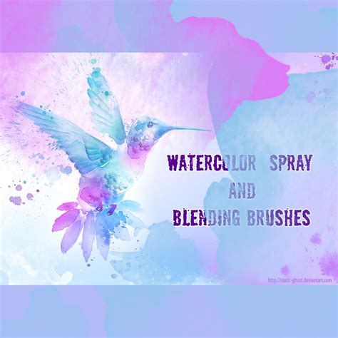 tutorial watercolor brush photoshop watercolor spray brushes photoshop brushes