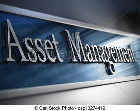Company Asset Search Clipart Of Asset Management Company Asset Management Plaque In Front Csp13274419