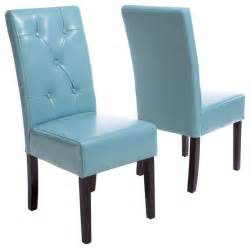 Teal Dining Chairs by Alexander Teal Blue Leather Dining Chair Set Of 2
