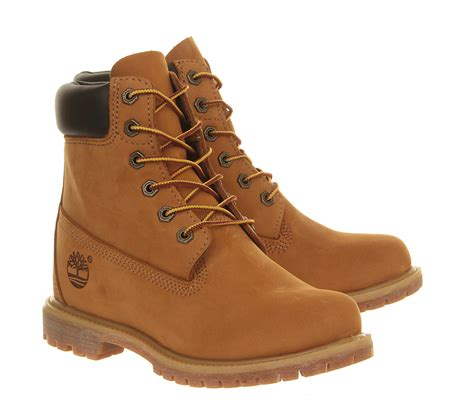 timberland premium wedge boot in brown lyst