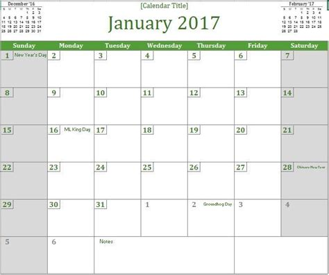 excel template monthly calendar 2017 monthly calendar excel templates for every purpose