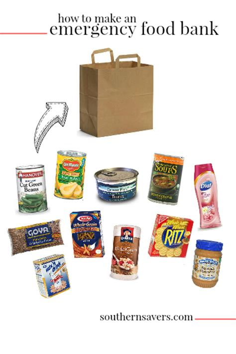 couponing for how to make an emergency food bank for
