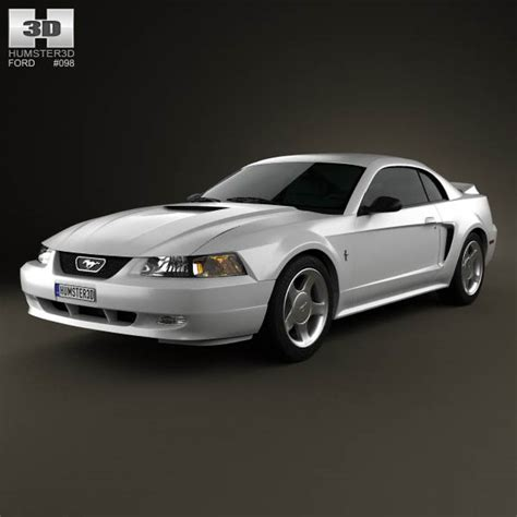 1998 Ford Mustang Gt by Ford Mustang Gt Coupe 1998 3d Model Hum3d