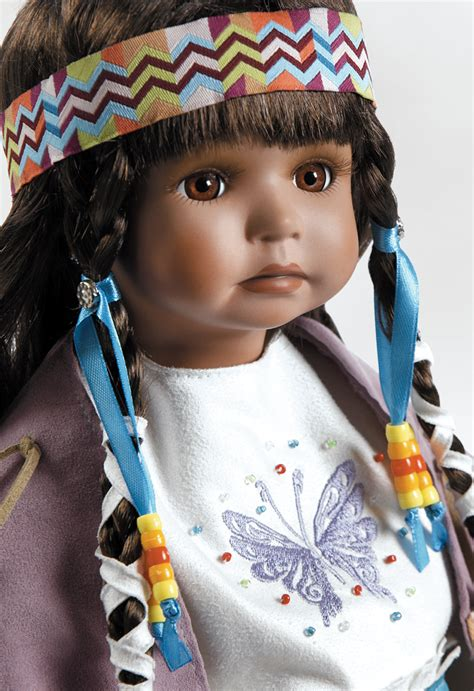 porcelain doll american indian american indian doll aponi stands 19 inches in