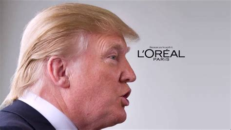 hair commercials donald trump hair commercial loreal if i was stupid edit
