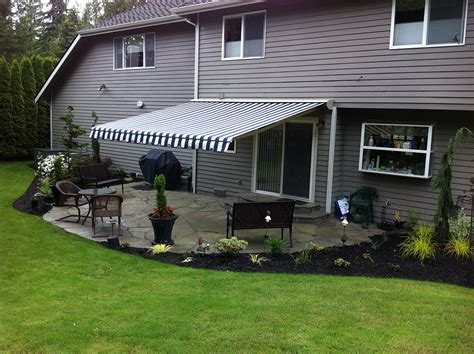 backyard awning shade retractable deck awnings rainier shade