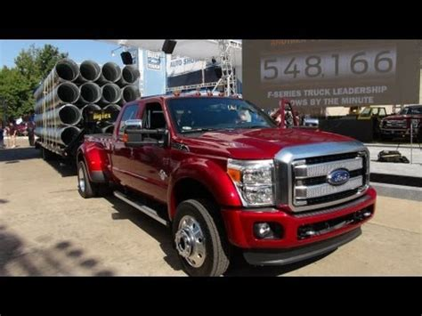 watch the 2015 ford f 450 6.7l diesel super duty debut at
