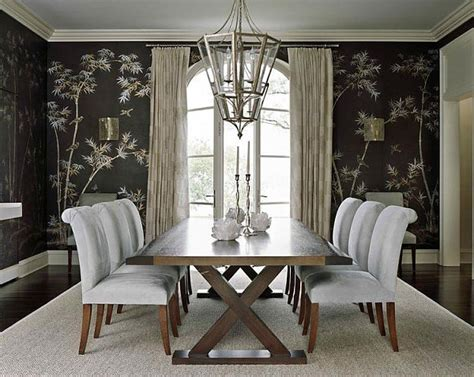 wallpaper for dining rooms bamboo dining room wallpaper decoist
