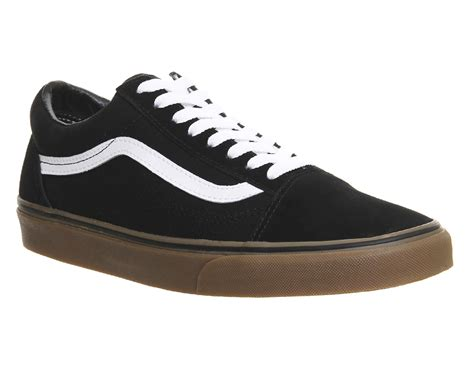 Sale Sepatu Vans Black Brown Size 36 39 vans skool black gum sole unisex sportschuhe