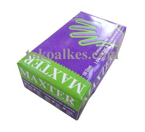 Sarung Tangan Karet Per Pack sarung tangan karet maxter non steril powdered tokoalkes