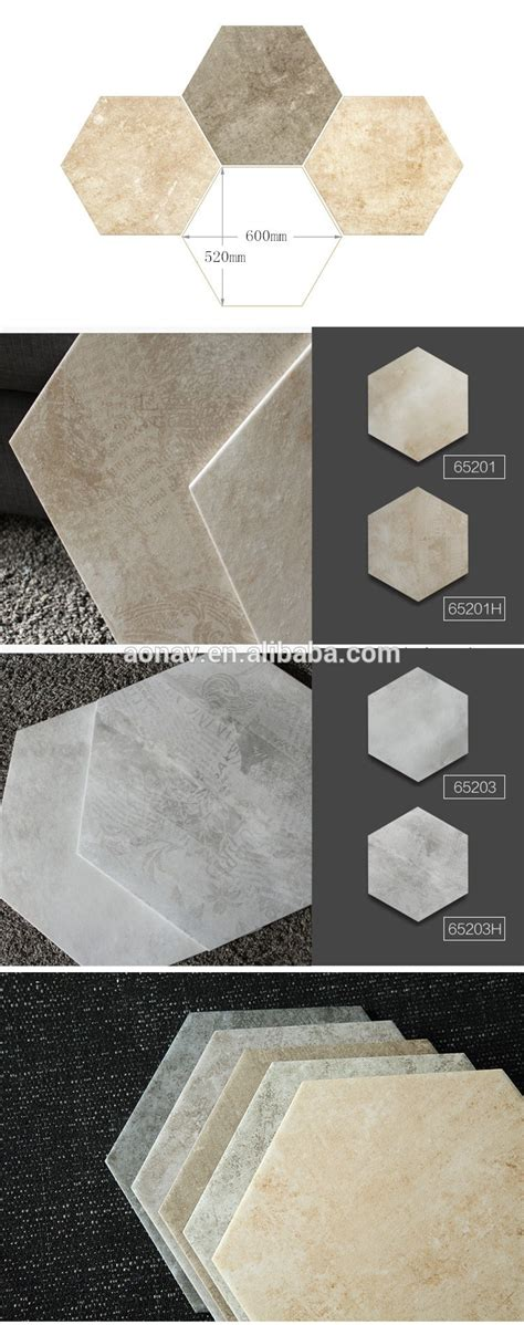 1 Hexagon Shaped Floor Tiles - flower pattern hexagon shaped rustic office floor and wall