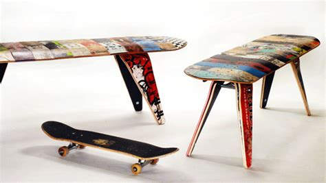 skateboard furniture cool and masculine skateboard furniture chair seating