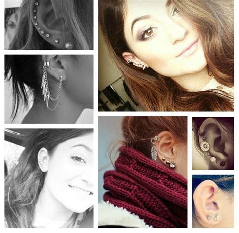 kendall jenner tattoo behind ear ear envy kylie jenner multiple earrings collage kendall