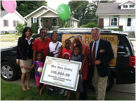 Publishers Clearing House Prize Patrol Van - a big check and balloons excite an illinois household pch blog