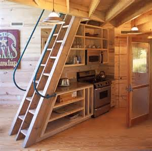 stairs interiors staircase tiny house plans size living small really big this rustic modern
