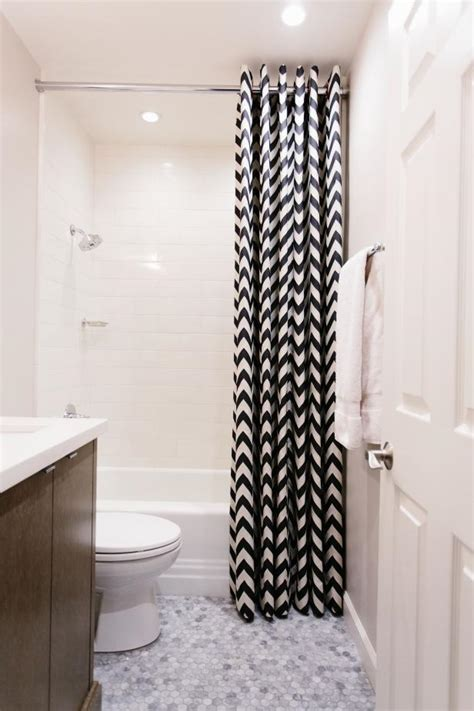 Black And White Bathroom Curtains by Narrow Shower Curtain With Black And White Color Schemes