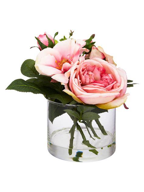 peony pink rose cylinder vase small  john lewis partners