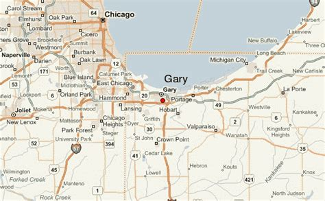map of gary indiana gary location guide