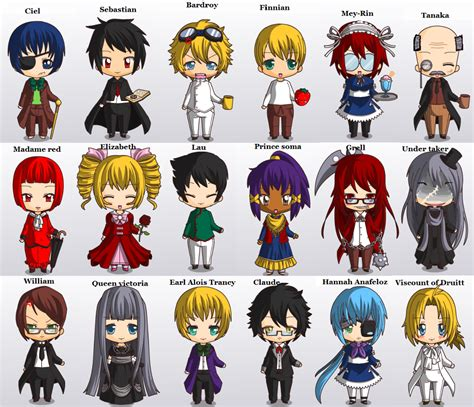 black butler list black butler characters search anime