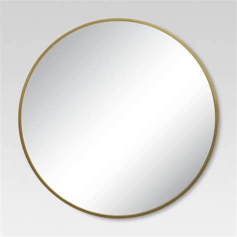 mirror target round decorative wall mirror brass project 62 target