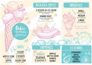 9 ice cream menu templates psd vector eps ai