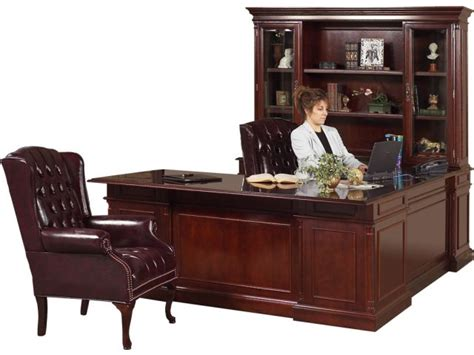 u shaped executive office desk executive u shaped office desk w left credenza kes 038