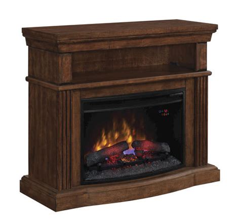 40 quot hton dual entertainment media mantel in caramel