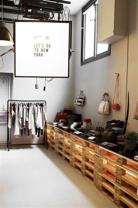 ideas de decoracion  palets  una tienda diseno