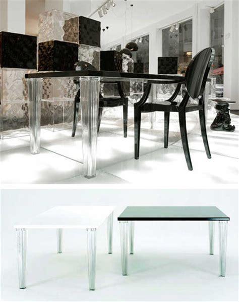 kartell tavoli trasparenti kartell toptop 4256 tavolo