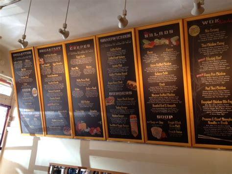 restaurants with light menus menuboard chalkboard tilt with overhead drop spot lighting